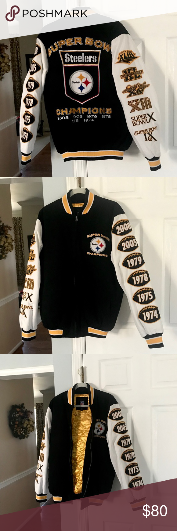 low priced 84975 f874e Pittsburg Steelers SuperBowl Champions Jacket Pittsburgh ...