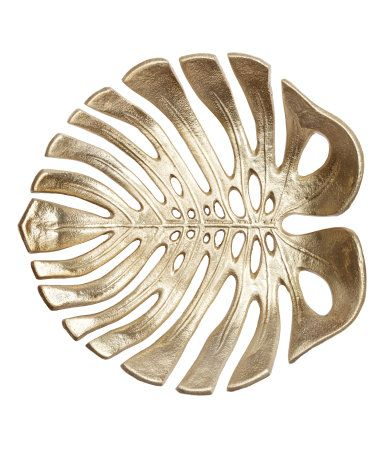 Large, leaf-shaped metal bowl  Size 9 3/4 x 10 1/4 in  | Cool house