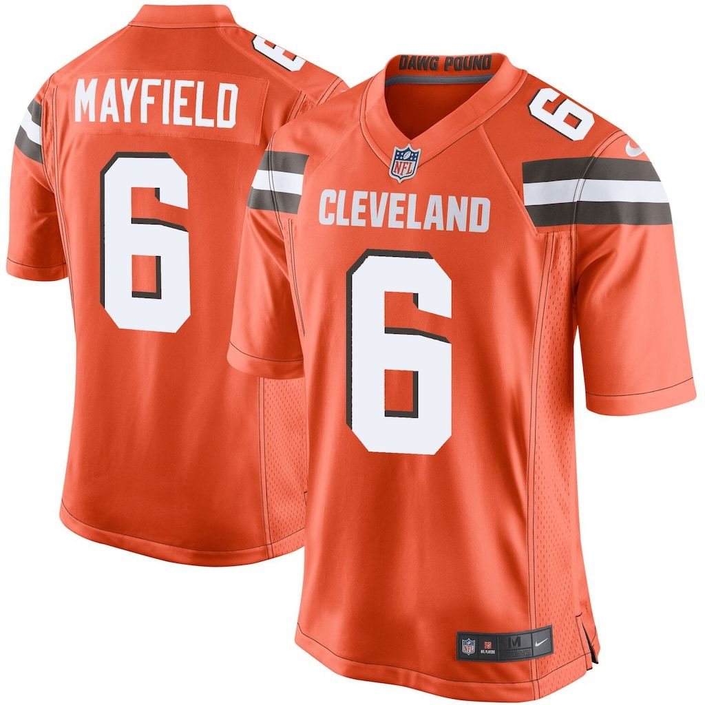Youth Nike Baker Mayfield Orange Cleveland Browns Player