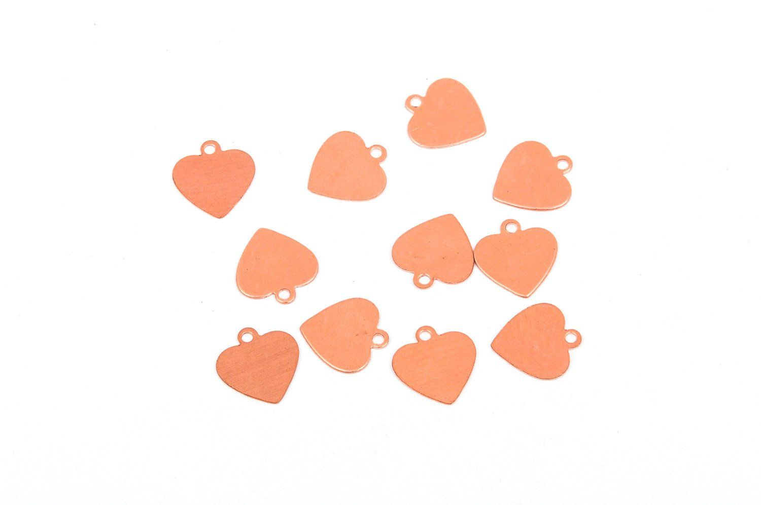 10 Pcs Small Heart Copper Metal Stamping Blanks Charms 1 2 13mm Tag 24 Gauge Msb0244 Metal Stamping Jewelry Making Supplies Copper Metal