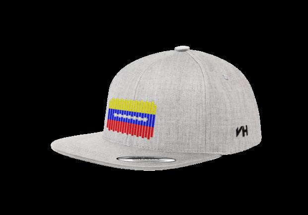 067726a0335c4 Gorra Snapback Bandera de Lineas Venezuela en color Gris