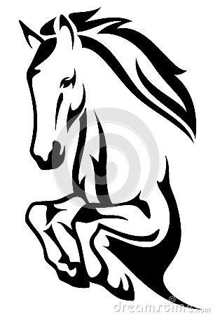 Pferd springen | Tiere | Pinterest | Vector stock, Horse and Stenciling
