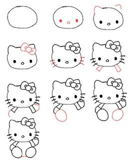 peace love crafts how to draw hello kitty - Kids Drawing Sites