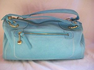 623401cc16 CELINE Blue Marine Suede Porte Main Boston Bag Handbag