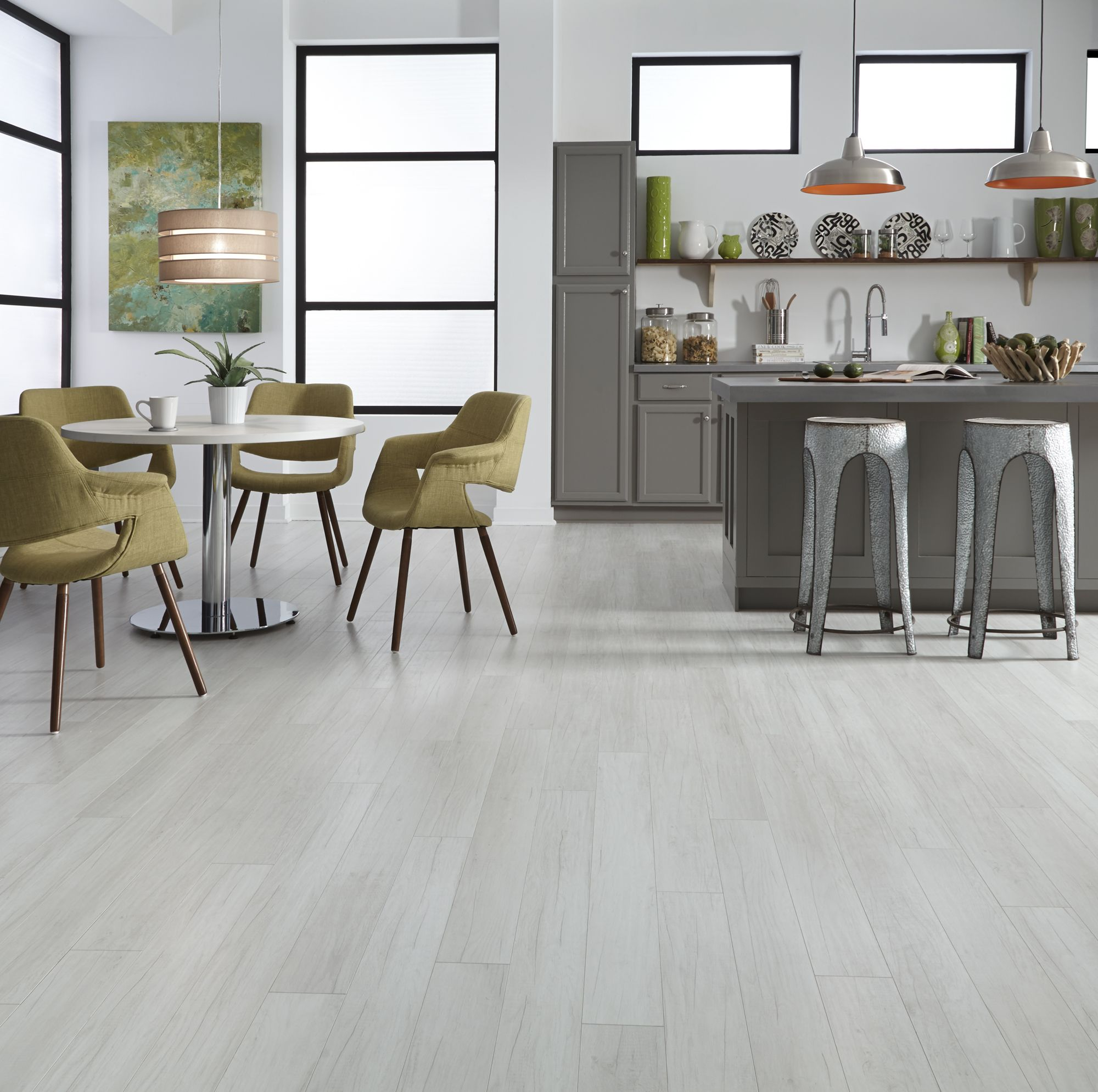 Gray Wood Flooring Kitchen: A Light & Bright NEW Dream Home Laminate
