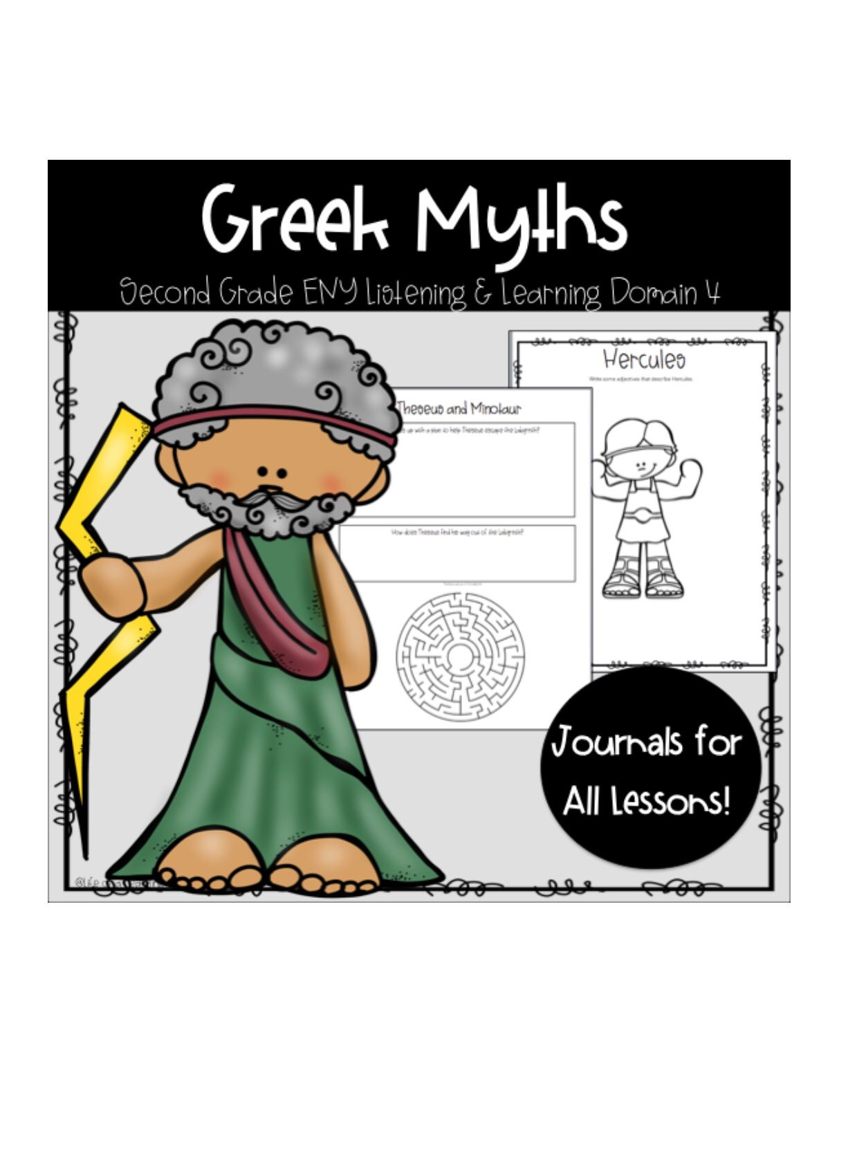 Ckla Eny Greek Myths Grade 2 Domain 4 Listening Journal