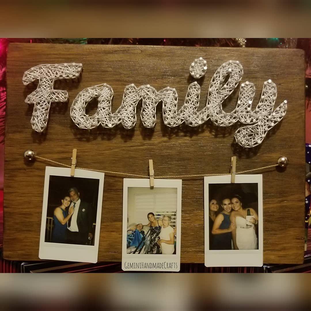 Family String Art! 📸 Wood Stai