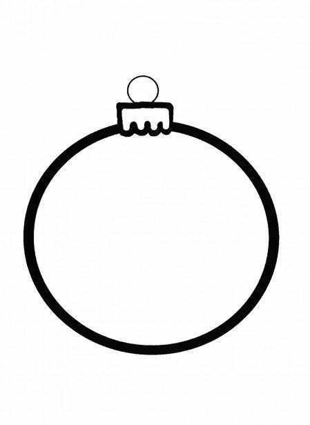 Christmas Art Clip Outline Ornament