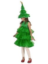 Glitter Christmas Tree Child Costume Small Christmas Tree Costume Tree Costume Toddler Costumes Girl