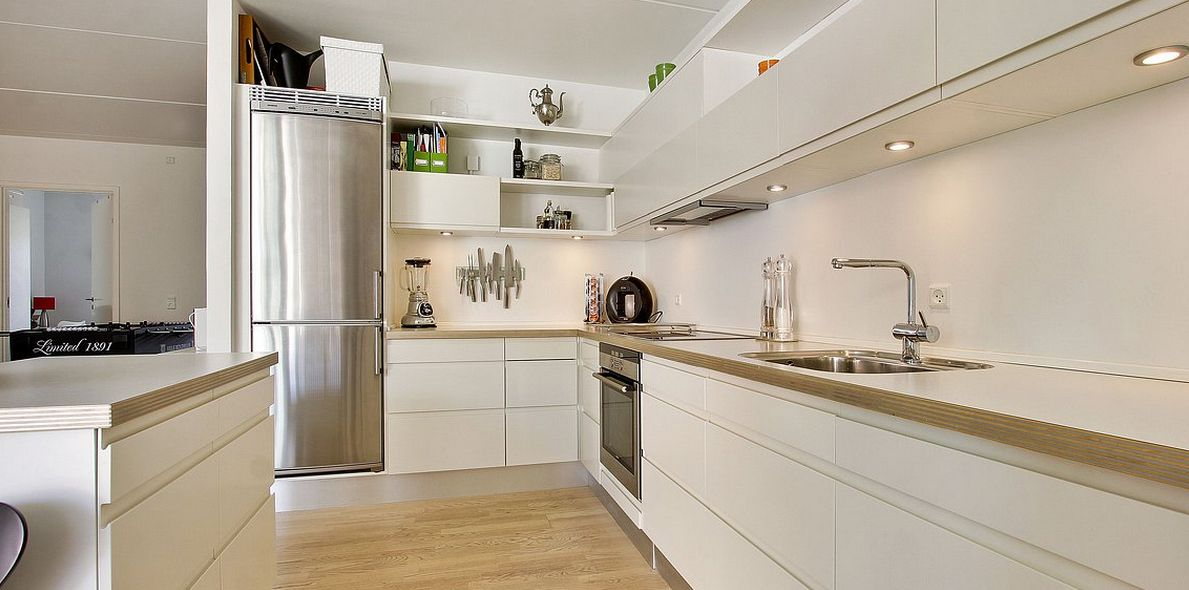 cocinas modernas blancas - Buscar con Google Mamá Pinterest