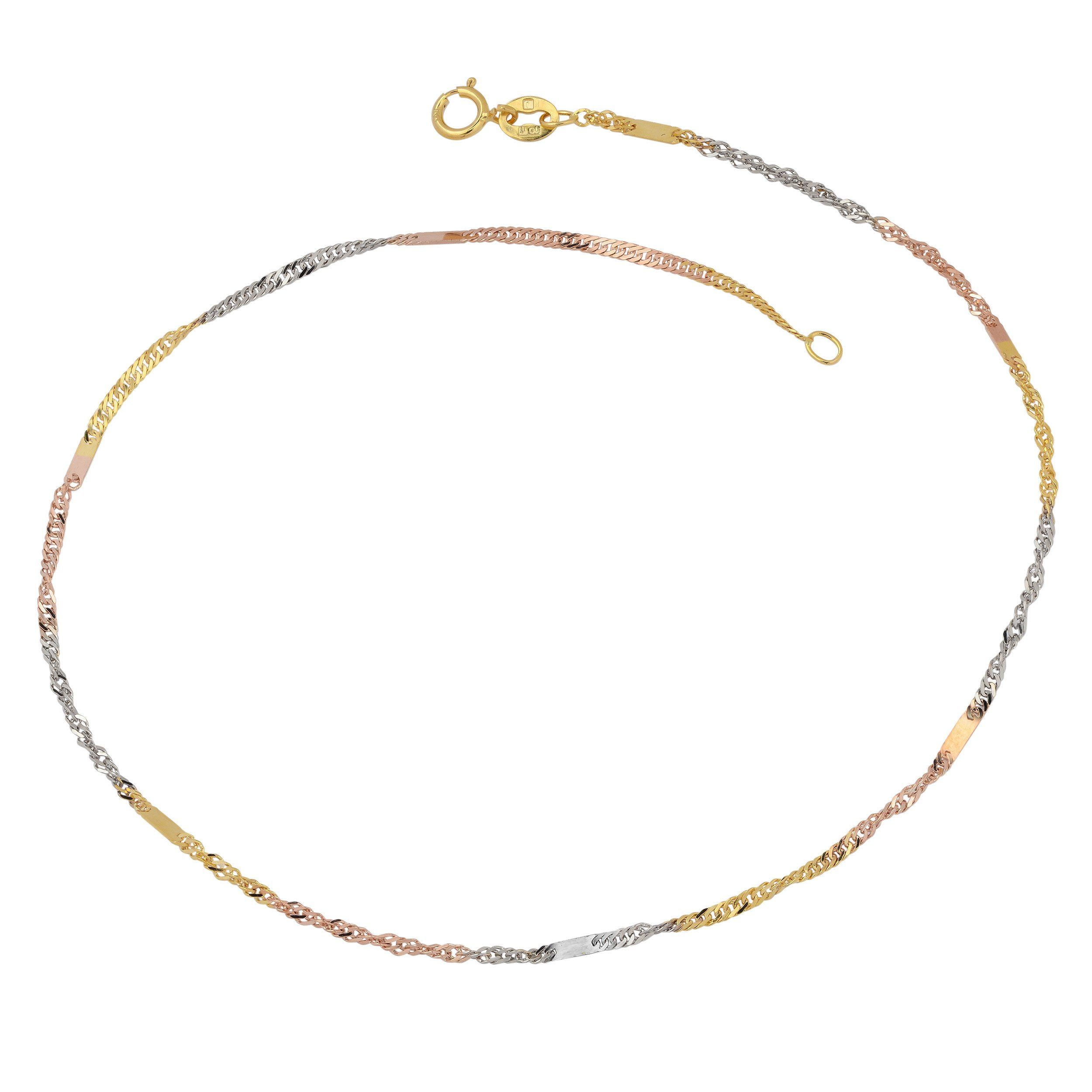 womens singapore in anklet ankle gold and wide yellow inches bracelet