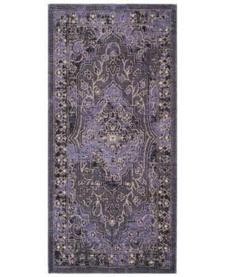 Safavieh Palazzo Purple And Black 2 6 X 5 Area Rug Purple