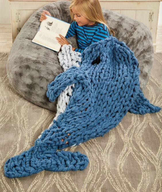 Free Knitting Pattern for Dolphin Sleep Sack - Arm Knit ...