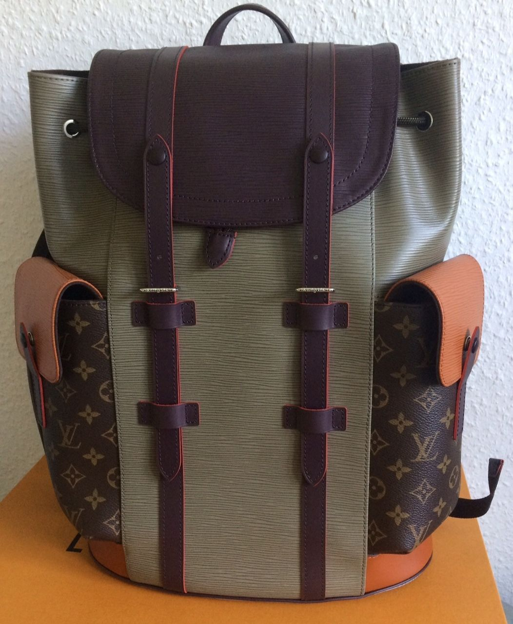 974895dde7f5 Louis Vuitton Runway FW2017 Patchwork Christopher Backpack PM  NWT-Supreme-Show