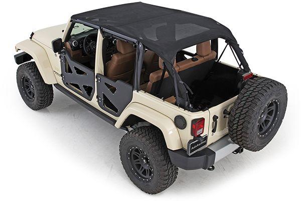 Smittybilt 94600 Smittybilt Extended Mesh Top Jeep Wrangler Jeep Wrangler Jk Smittybilt