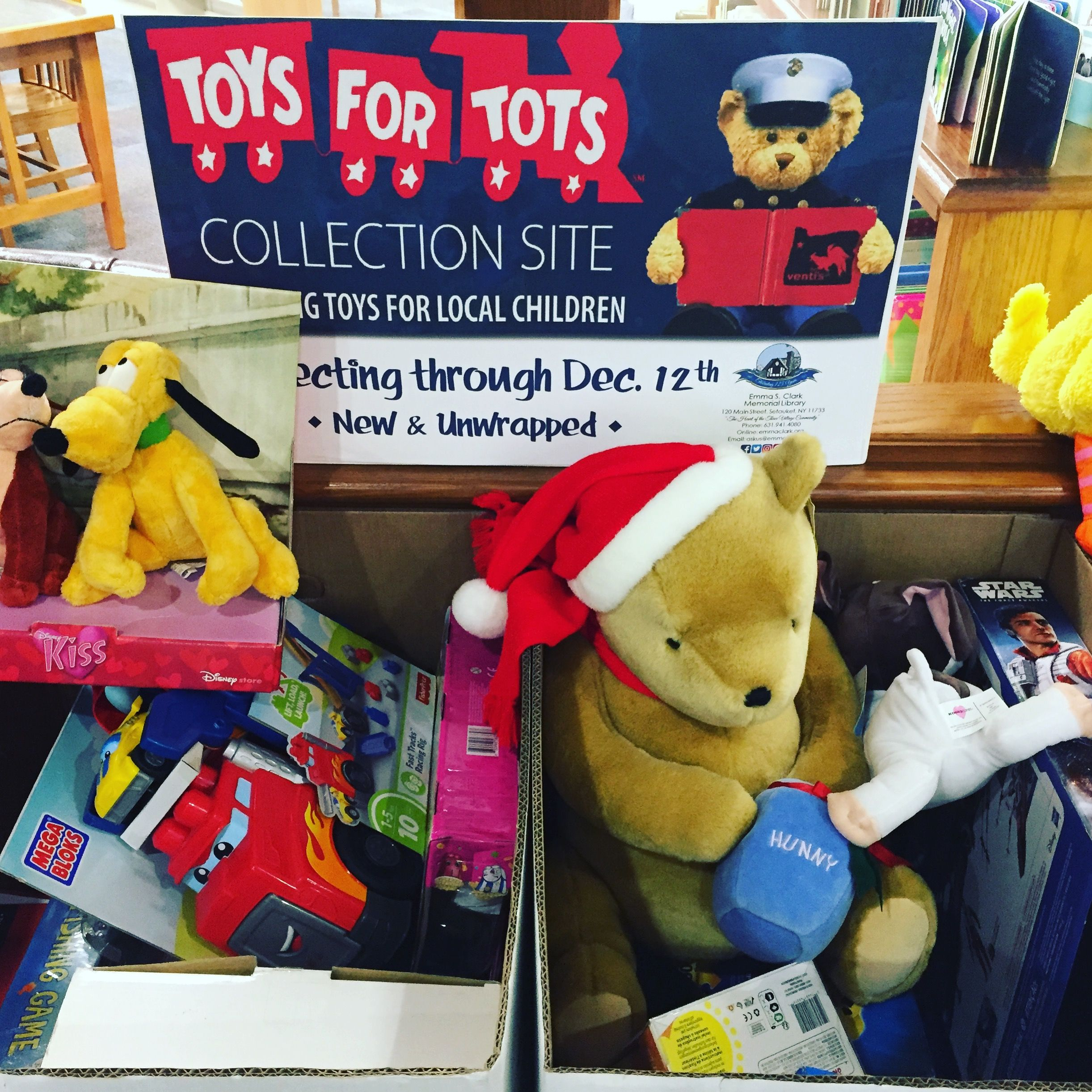 1 More Week To Donate To Toys For Tots Here At The Library