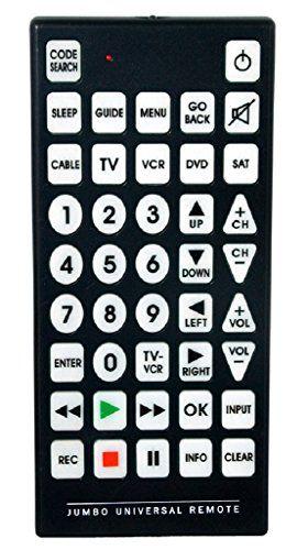qfx rem 115 jumbo 8 1 universal remote control the jumbo universal rh pinterest com Innovage Jumbo Universal Remote Control Jumbo Universal Remote Directions