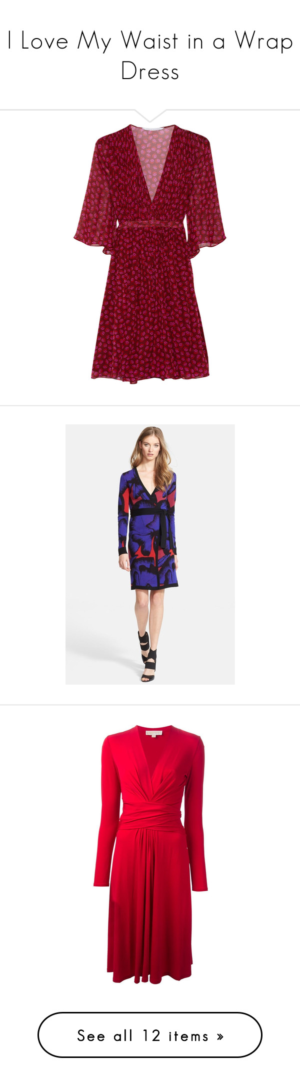 """""""I Love My Waist in a Wrap Dress"""" by polyvore-editorial ❤ liked on Polyvore featuring wrapdress, lovemylook, Diane Von Furstenberg, Michael Kors, Westward Leaning, dresses, red dress, diane von furstenberg, red wrap dress and diane von furstenberg dresses"""