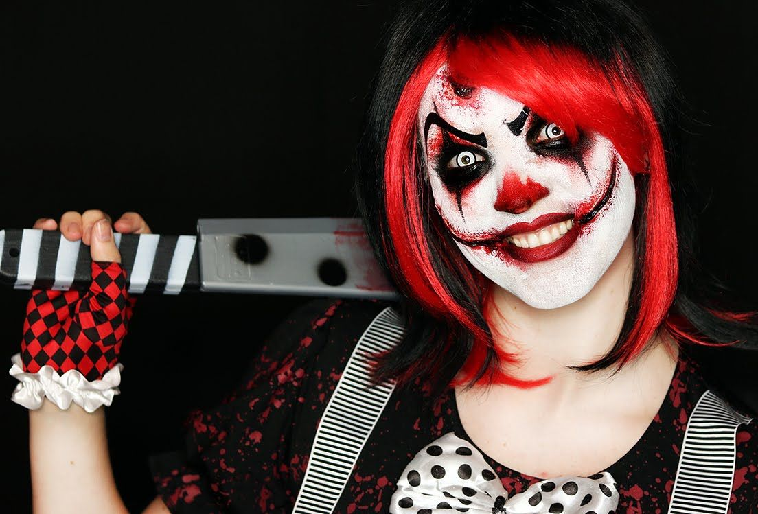 Killer Clown Halloween Costumes For Girls.Killer Clown Makeup Tutorial Easy Scary Clown 31 Days Of