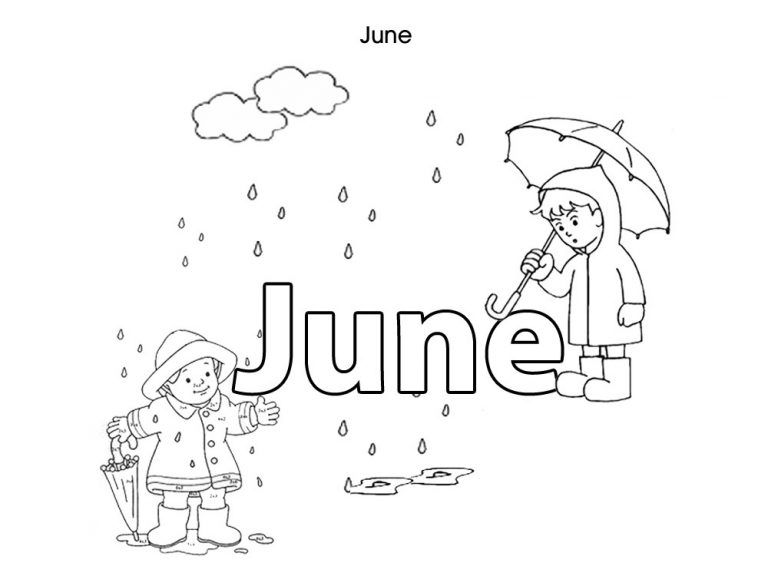 Months Of The Year Summer Coloring Pages Coloring Pages Coloring Pages For Kids
