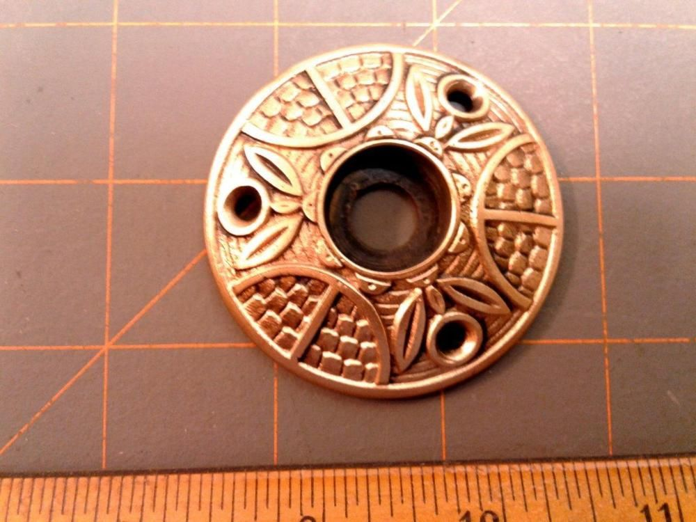 VTG Antique Ornate Fancy Brass EASTLAKE Door Knob ROSETTE