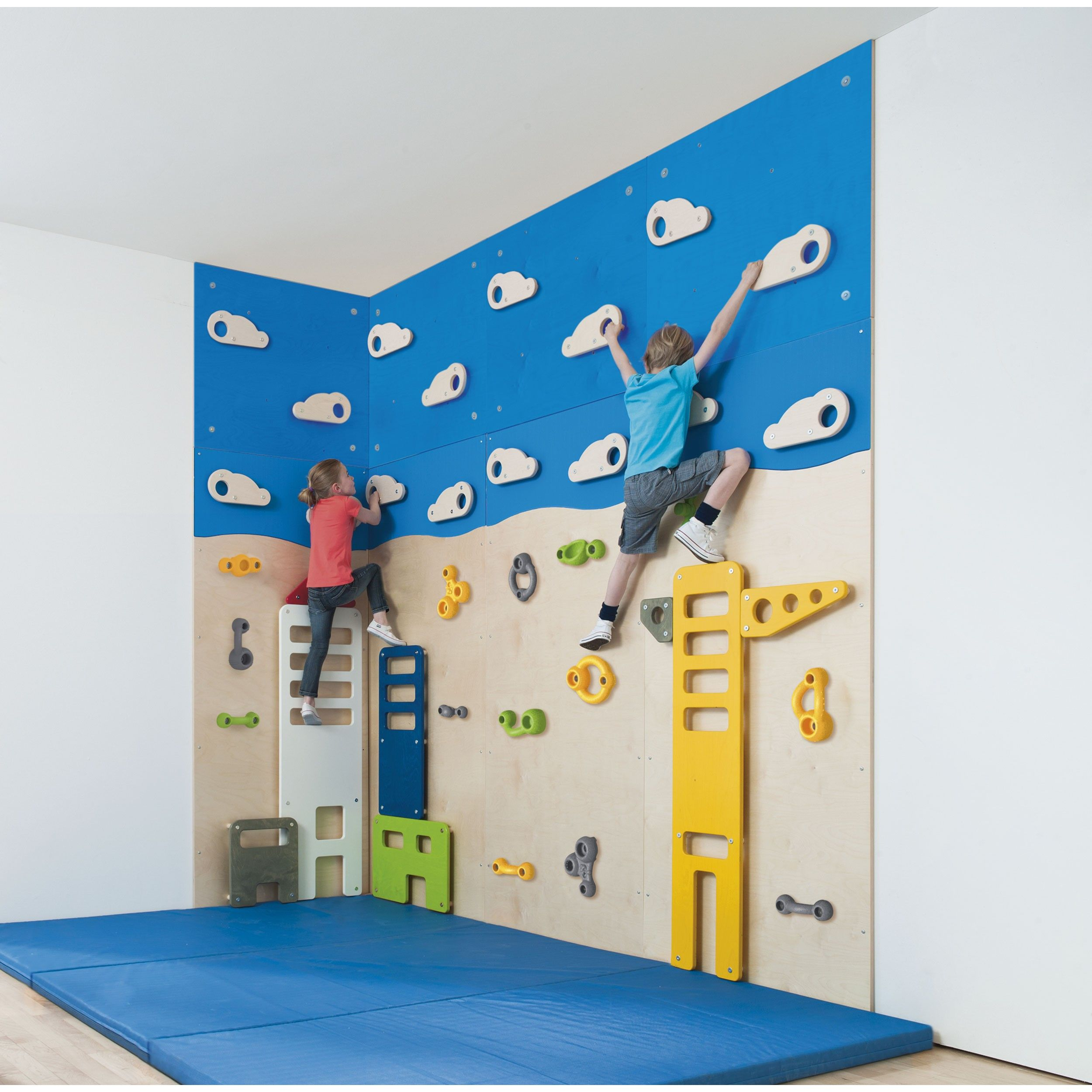 Kids Rooms Climbing Walls And Contemporary Schemes: Klatreveggen Kranen