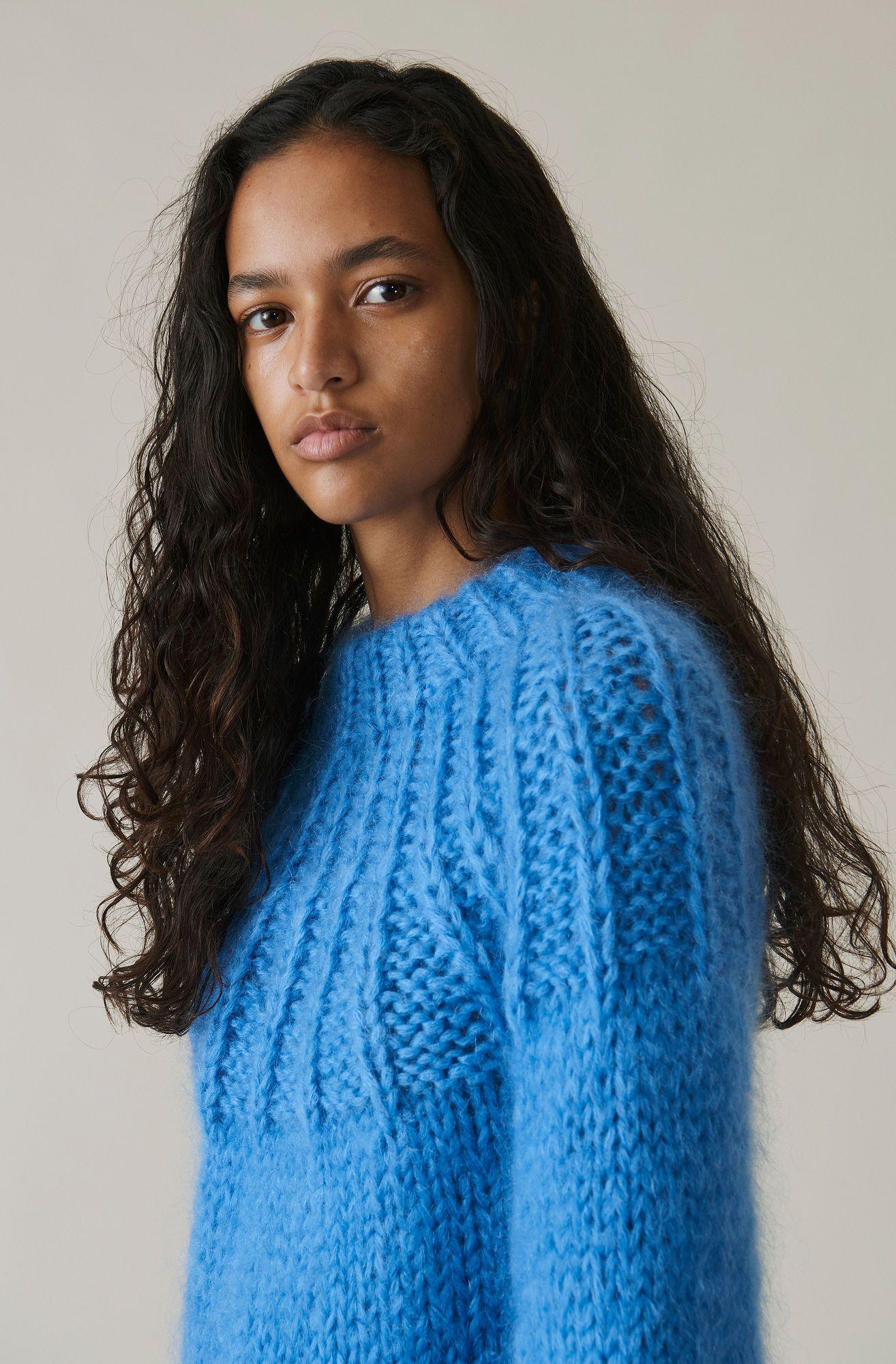 7e52d40351 The Julliard Mohair Bow Pullover, Marina | Strik, sweater, pullover ...