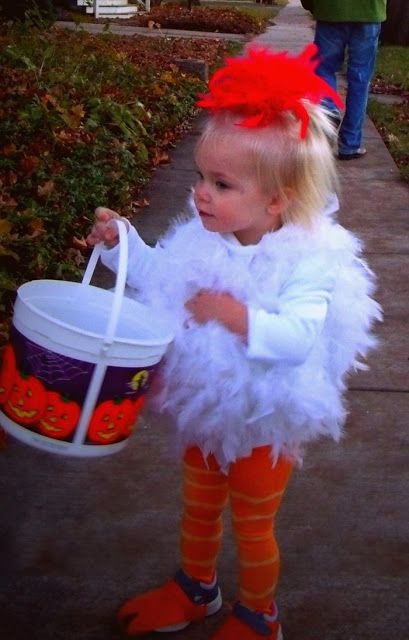 Madelynu0027s Homemade Chicken Costume - Halloween 2012  sc 1 st  Pinterest & Madelynu0027s Homemade Chicken Costume - Halloween 2012 | Completed ...