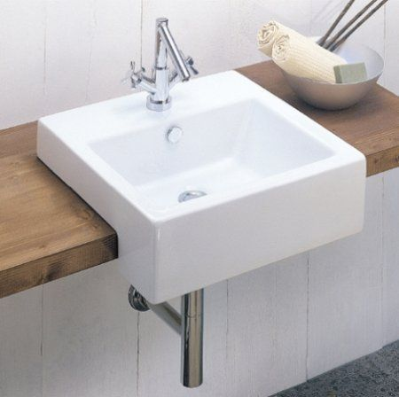 Overhanging Basin Might Save On Space Semi Recessed Basin Basin Guest Toilet