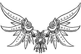 Steampunk butterfly coloring page printable adult Kleuren