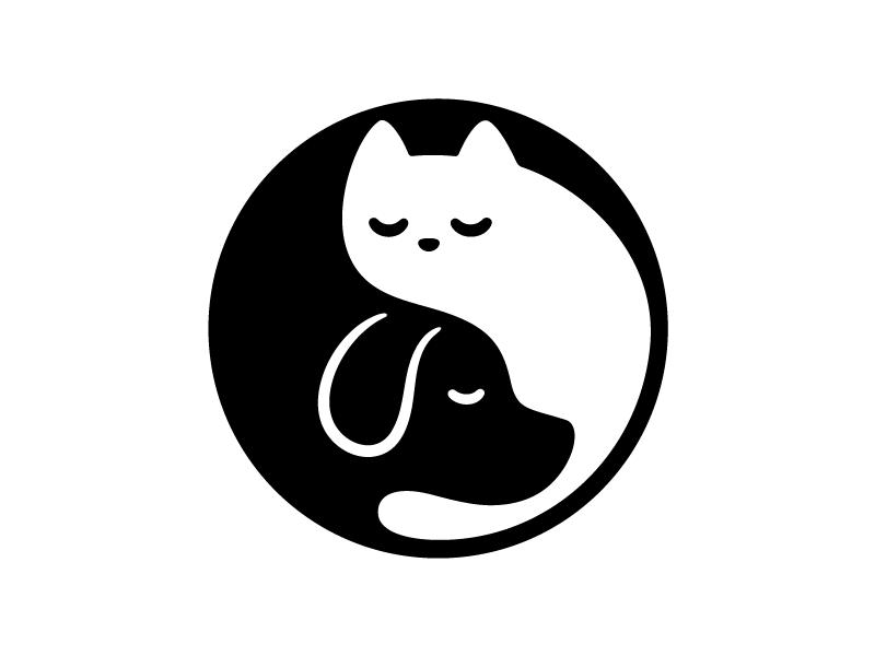 Yin Yang Cat And Dog Cat And Dog Drawing Cat And Dog Tattoo Dog Drawing