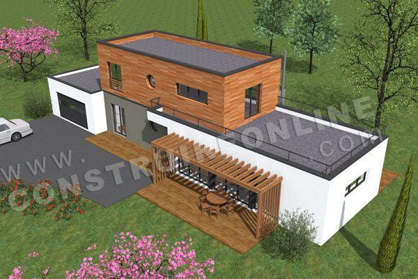construireonline img plans 231 plan-maison-contemporaine - plan maison cubique gratuit