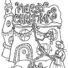 Whoville Christmas Tree Coloring Page Grinch Coloring Pages Printable Christmas Coloring Pages