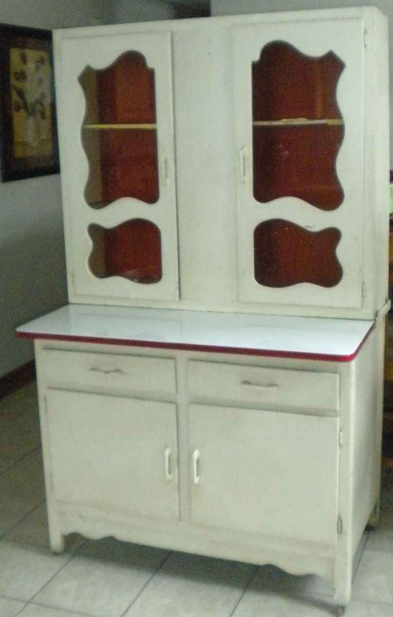 Antique Scheirich Hoosier Cabinet W Porcelain Counter Gingerbread Cutout Windows Hoosier Cabinet Antique Hoosier Cabinet Vintage Kitchen Cabinets