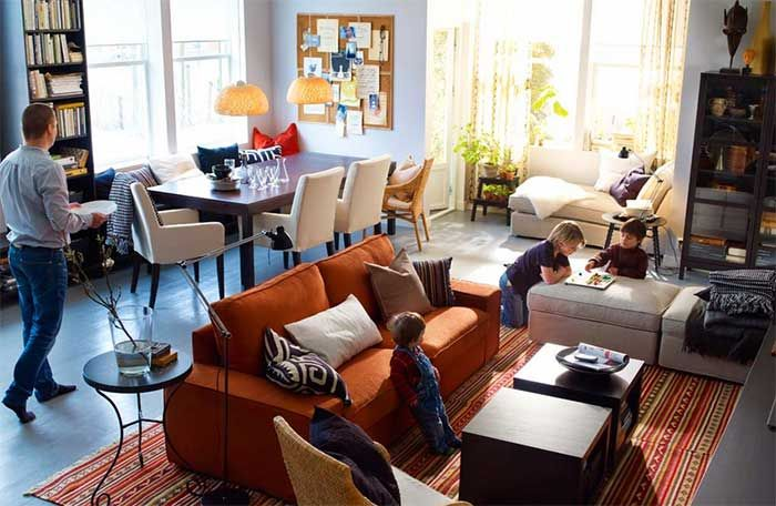 Create zones in living room, but only if your living room size is ...