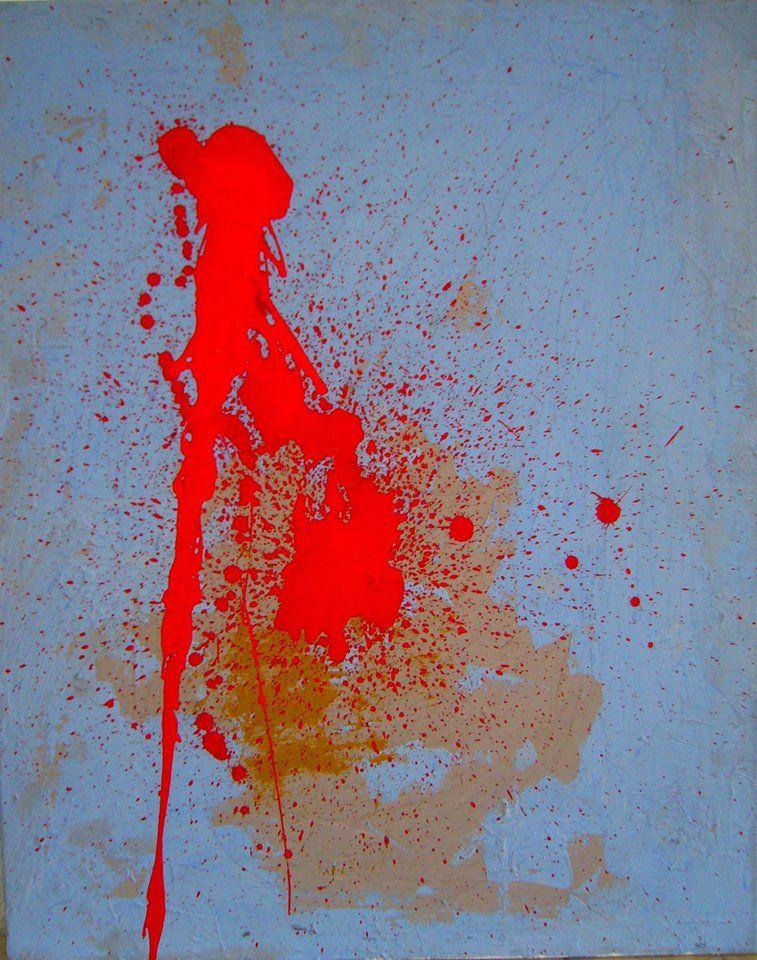 Rosario Olangua. 'Hay esperanza, pero no para todos'. Acrílico sobre lienzo. 81x65cm. 2015.