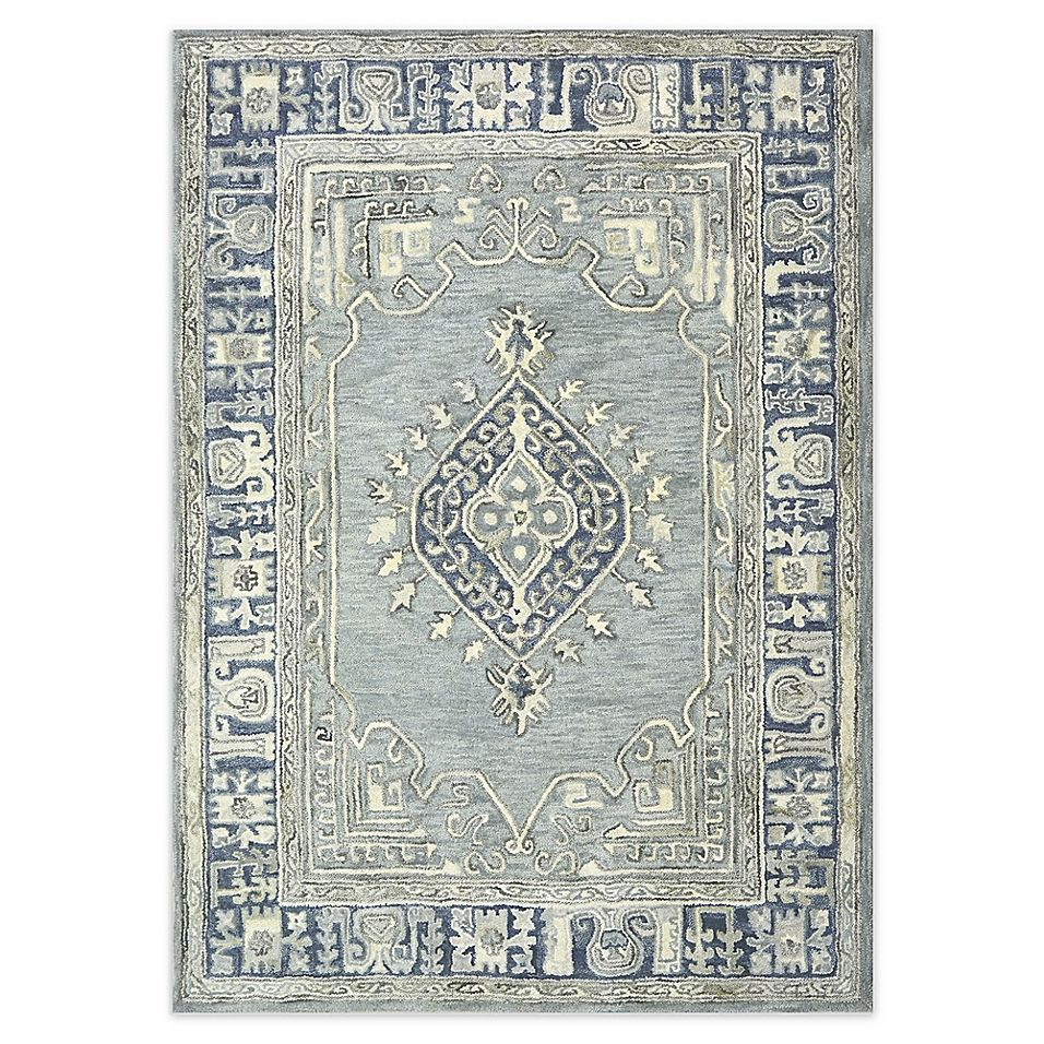 Bee Willow Home Kolkata 8 X 10 Area Rug In Blue Rugs Rug