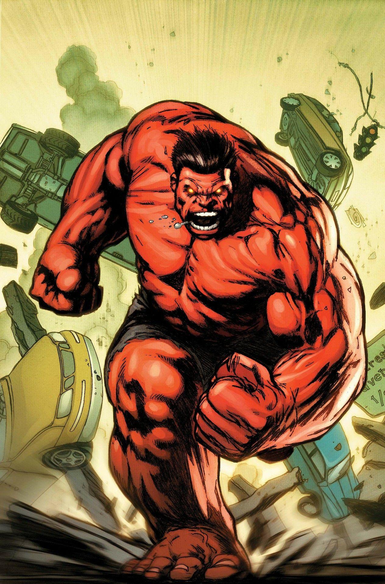 Red Hulk | Hulk vermelho, Comics anime, Desenho do hulk