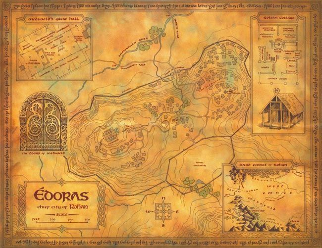 Map of Edoras, Chief City of Rohan | Middle earth, Middle ...