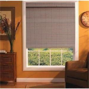 Naturesort Expresso Cordless Woven Bamboo Roman Shades 64 In At The Home Inches Wide Right Length