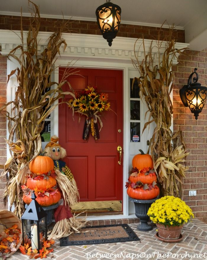 Pumpkin Topiaries For An Autumn Porch
