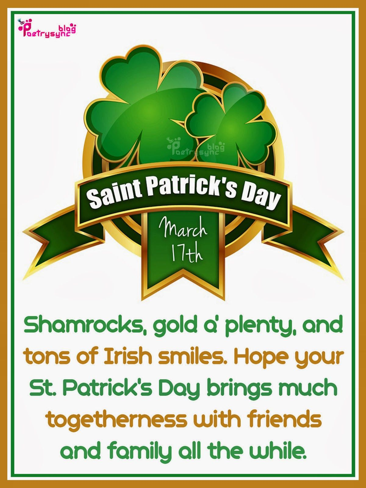Happy Saint Patrick Day Greetings Irish Saying Picture Paty Day