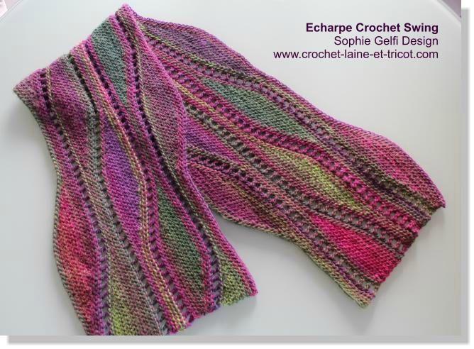 tricoter une echarpe au crochet