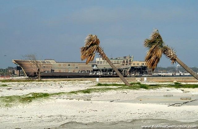 Biloxi Ms Treasure Bay Casino Destroyed By Katrina Storm Surge