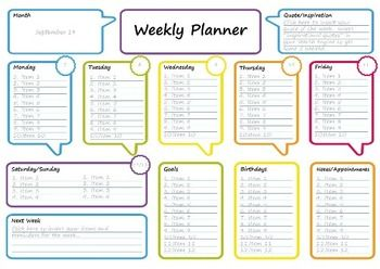 Weekly Planner  Free Printable DailyWeekly  Monthly