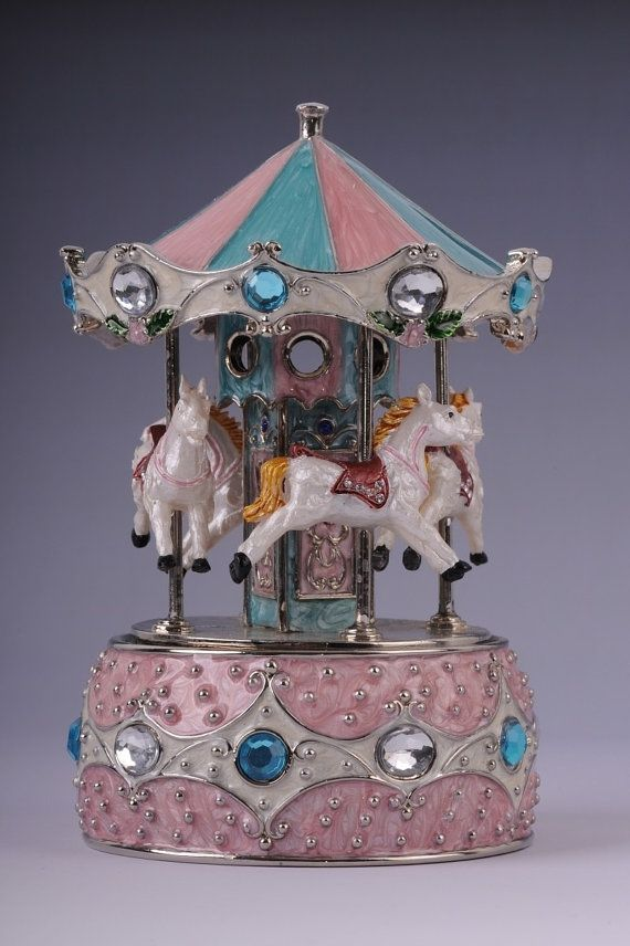 FABERGE CAROUSEL Horses whith Music box Jewelry by shopgalilee