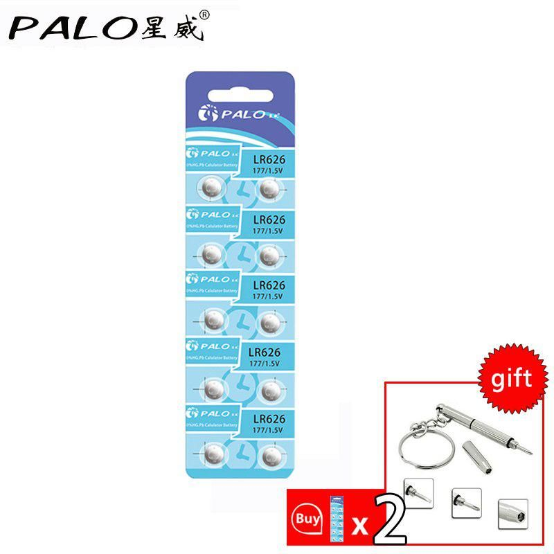 Palo 10pcs Lot 1 5v Lr626 Sr626sw Sr66 Lr66 Coin Button Cell Battery For Clocks Toys Calculators Watches Button Cell Cell Remote Controls