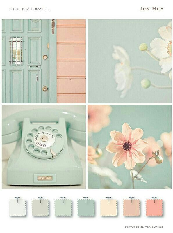 Pastel Tints Color Palette This Peach Green Would Look Beautiful On An Off White Base For A Shabby Chic Feel Inspir In 2020 Colour Schemes Color Schemes Room Colors