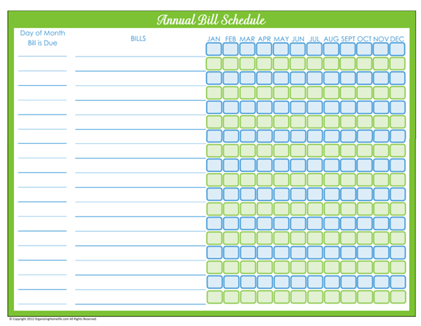 Doc736572 Bill Organizer 17 Best images about Monthly Bill – Bill Organizer Chart
