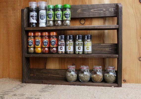 Large Rustic Spice Shelf X2f Kitchen Herb Rack X2f By